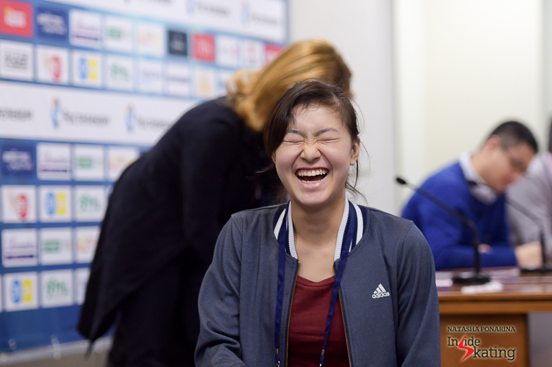 Priceless: Kanako's reaction when realizing she'll be the first to take the ice