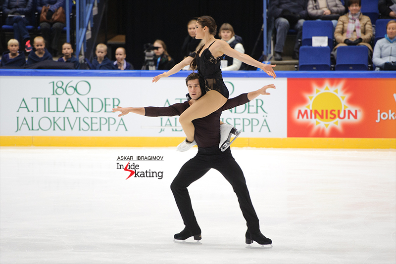 Laurence Fournier Beaudry and Nikolaj Sorensen FD 2016 Finlandia Trophy (2)