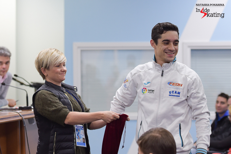 The World champion en-titre, Spain's Javier Fernandez, will open the group 2 (he drew number 7)