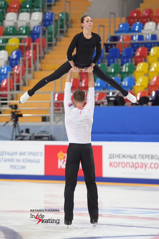 Natalia Zabiiako and Alexander Enbert practice 2016 Rostelecom Cup