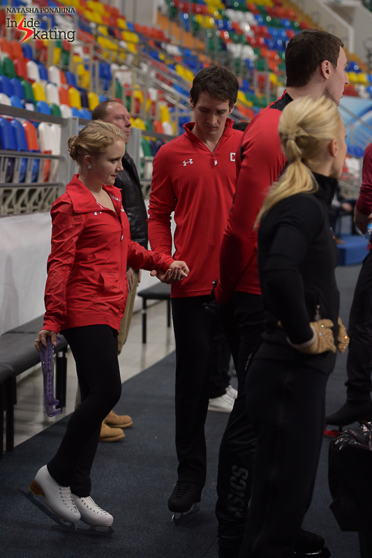 Canada's Julianne Seguin and Charlie Bilodeau are ready to take the ice for their practice