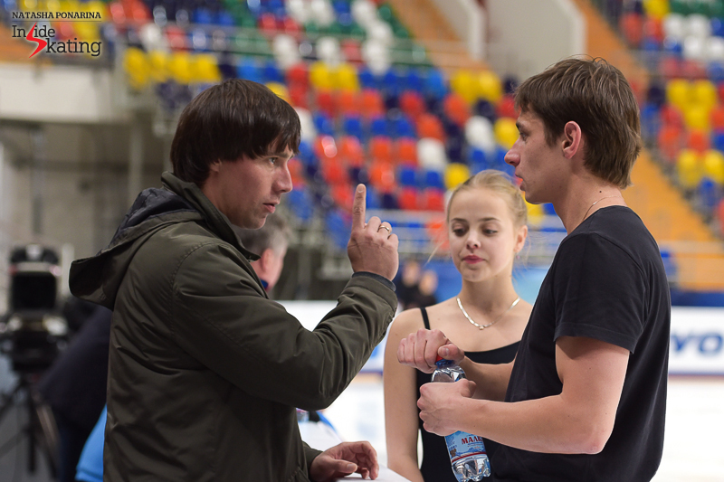 ...coached by no other than pair skater Alexander Smirnov in St. Petersburg.