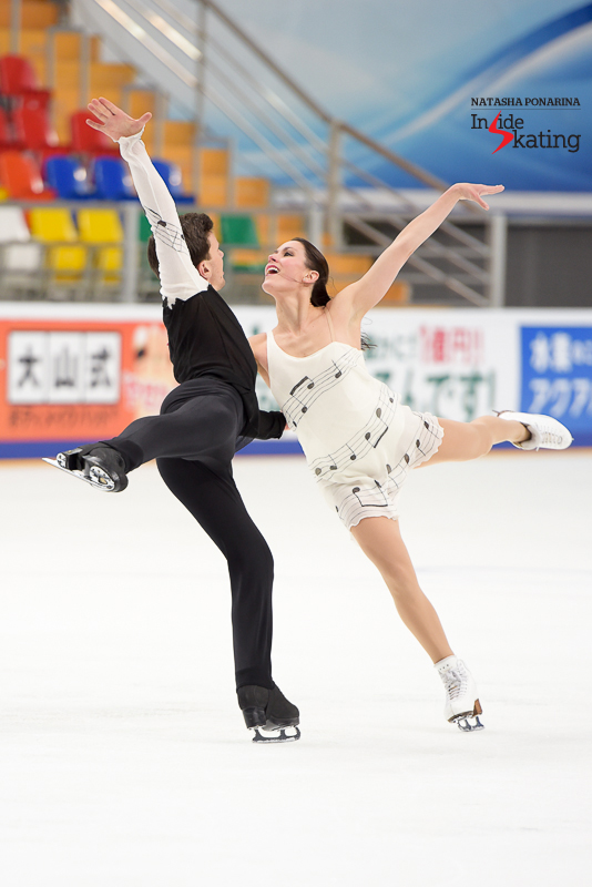 "Charlène Guignard and Marco Fabbri while practicing their free dance to music from Tchaikovski's ""Nutcracker"""
