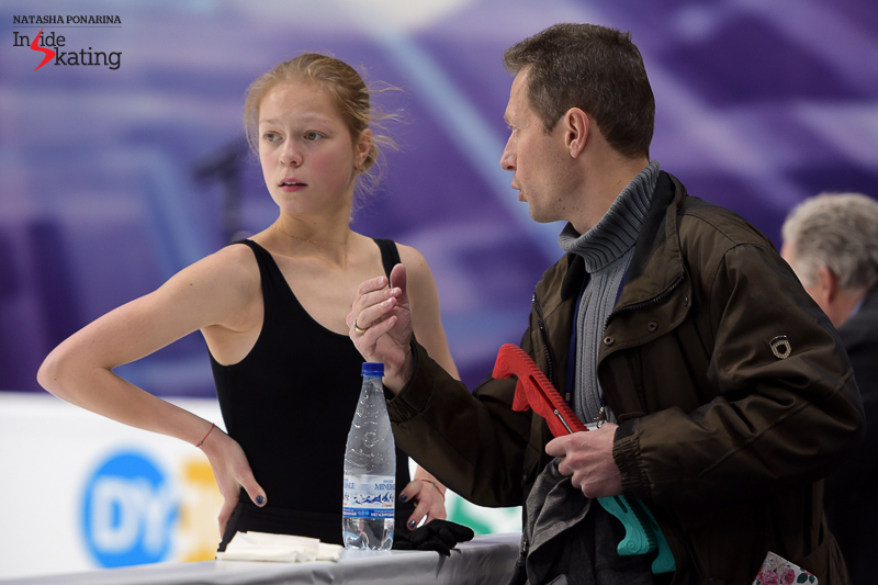 Anastasia, alongside father and coach Georgy Galustyan