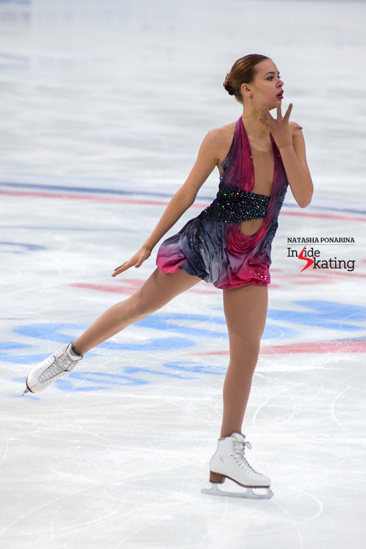 Full commitment during her free skate in Moscow