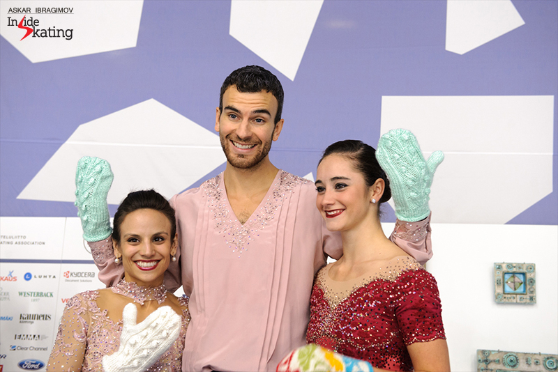 Canada's golden team at 2016 Finlandia Trophy: Meagan Duhamel & Eric Radford and Kaetlyn Osmond won their events in Espoo