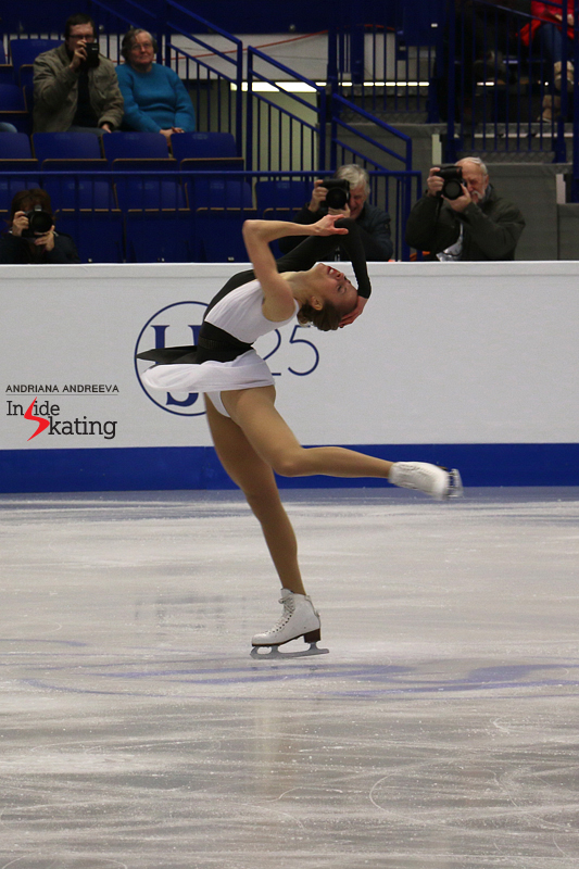 Carolina and one of her wonderful pirouettes in Ostrava, at 2017 Europeans