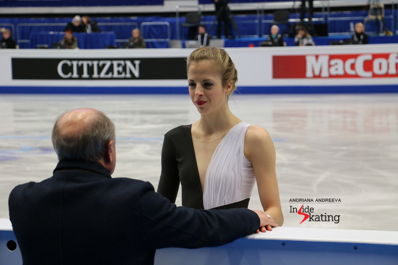 Carolina Kostner before SP at 2017 Europeans
