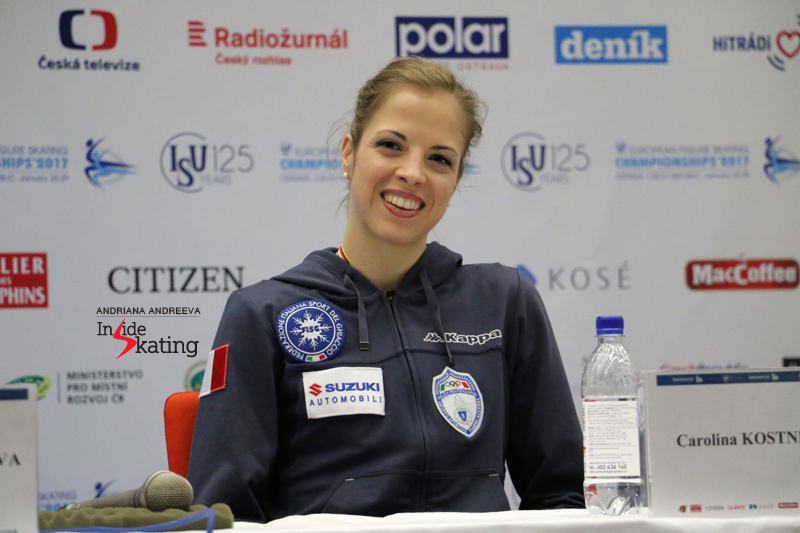 With Carolina Kostner, what you see is what you get: a warm smile during the press conference after the free skate