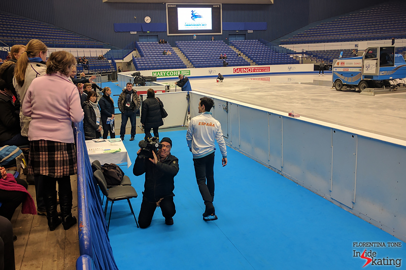 Javier Fernandez on January 24 in Ostravar Arena (2)
