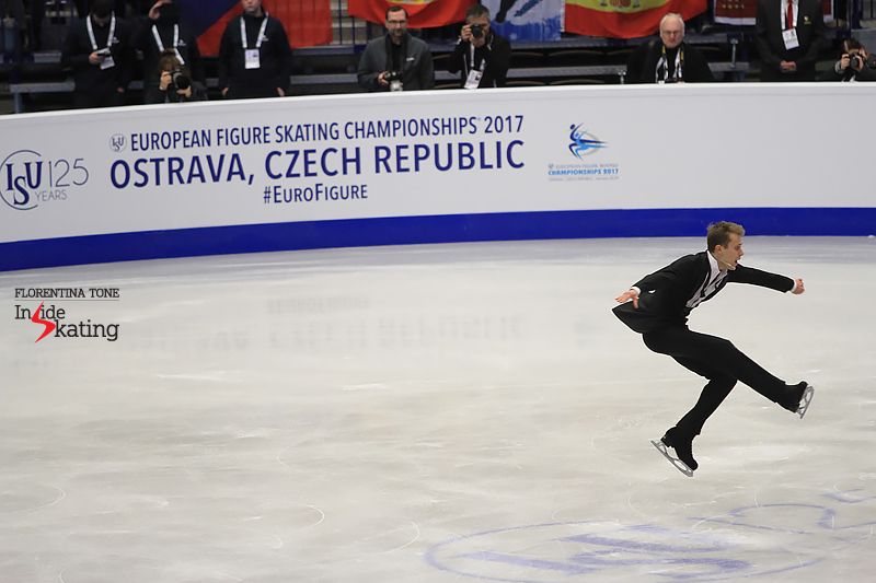 Michal Brezina SP 2017 Europeans