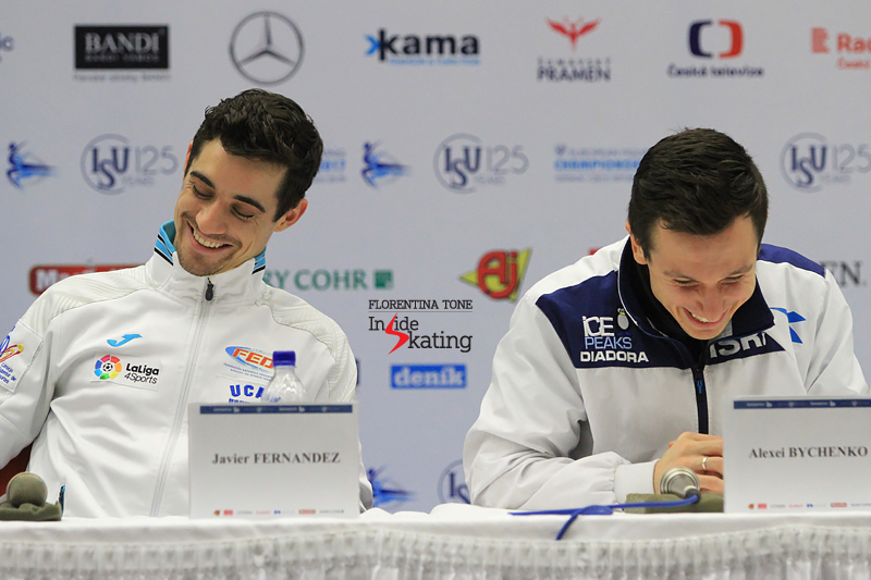 Press conference after men's SP 2017 Europeans (2)