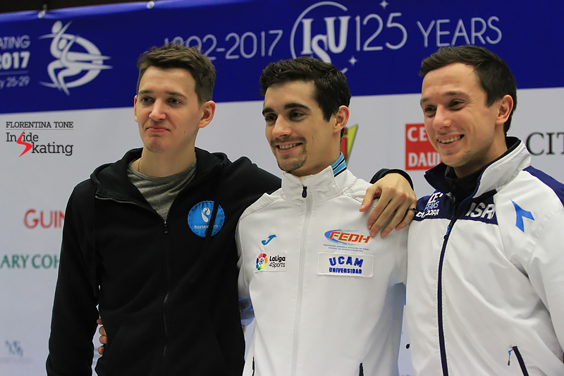 Press conference after men's SP 2017 Europeans (3)