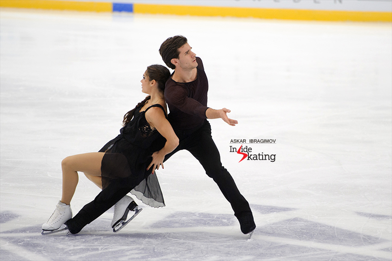 Laurence, Nikolaj and their strikingly beautiful starting pose for the free dance this season