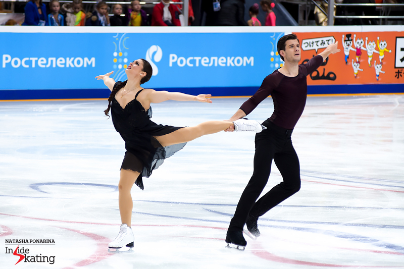 Glimpses of their emotional free dance, as skated in Moscow at 2016 Rostelecom Cup