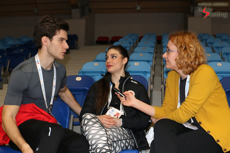2 Laurence Fournier Beaudry Nikolaj Sorensen interview for Inside Skating 2017 Europeans