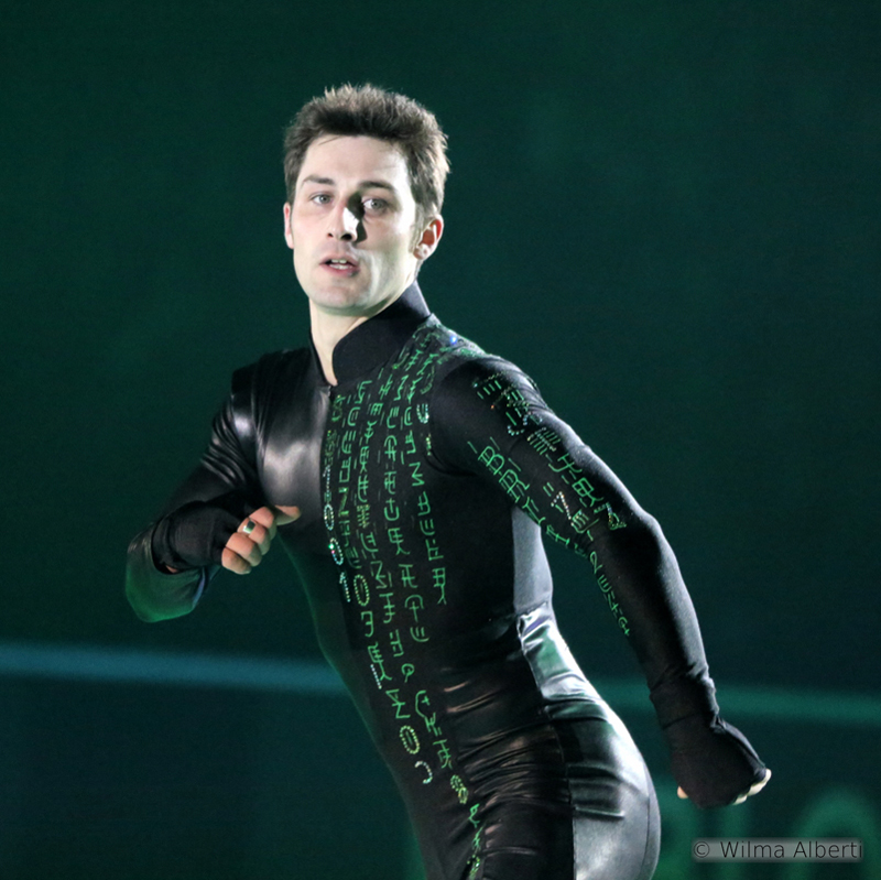 Brian Joubert as Matrix, during the first edition of Ice Legends (December 2014)