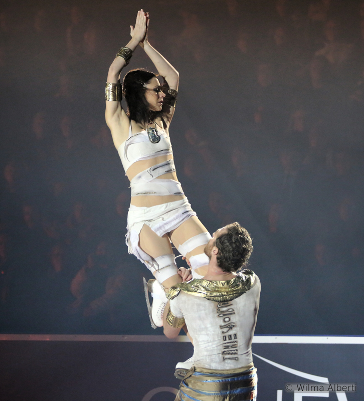 "Nathalie Péchalat, Fabian Bourzat – and one of their trademark programs: ""The Mummy"" (Ice Legends 2014)"