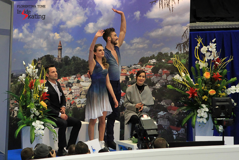 7 Gabriella Papadakis Guillaume Cizeron after FD 2017 Europeans