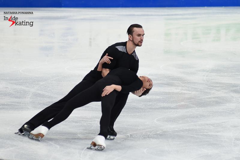 21 Ksenia Stolbova and Fedor Klimov pairs practice 2017 Worlds Helsinki