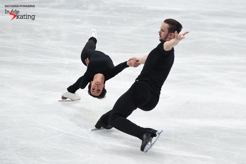23 Ksenia Stolbova and Fedor Klimov pairs practice 2017 Worlds Helsinki