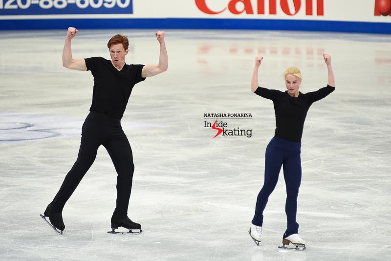 26 Evgenia Tarasova and Vladimir Morozov pairs practice 2017 Worlds Helsinki