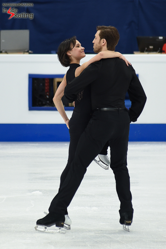 "Liubov Ilyushechkina and Dylan Moscovitch came with loads of enthusiasm in Helsinki, in already their third World Championships as a team. Here you have them practicing their short program, to ""Tango Jalousie"" by Jacob Gade, a program choreographed by David Wilson and Marie-France Dubreuil."