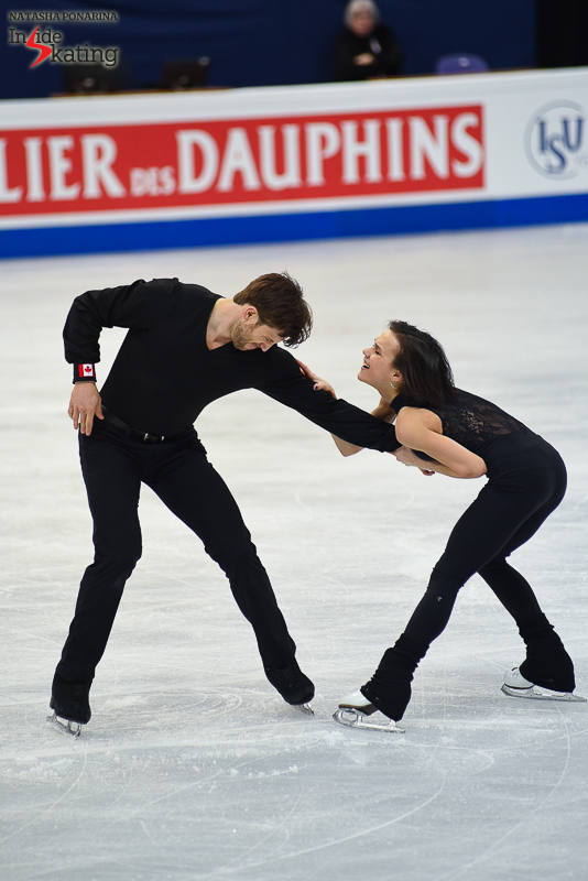 35 Liubov Ilyushechkina and Dylan Moscovitch pairs practice 2017 Worlds Helsinki