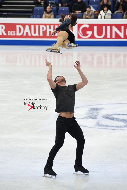 39 Meagan Duhamel and Eric Radford pairs practice 2017 Worlds Helsinki