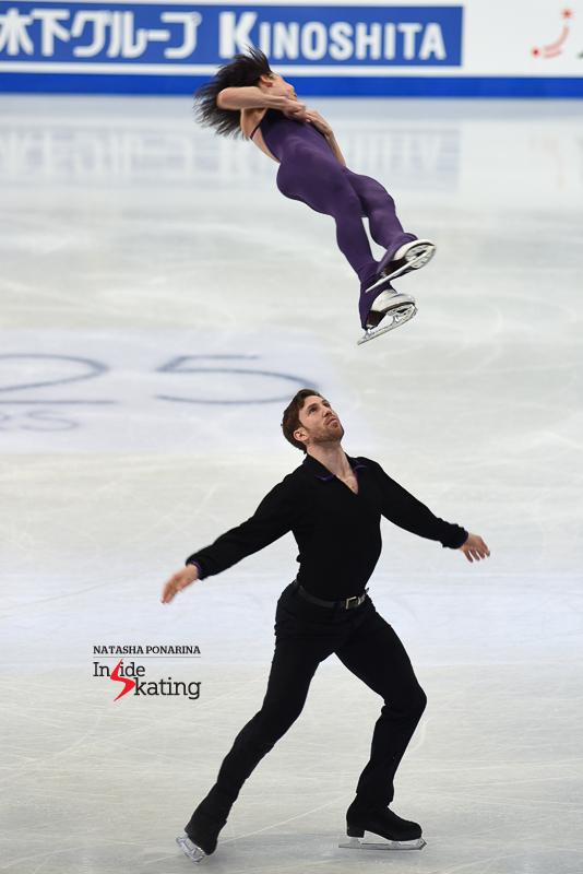 43 Liubov Ilyushechkina and Dylan Moscovitch pairs practice 2017 Worlds Helsinki