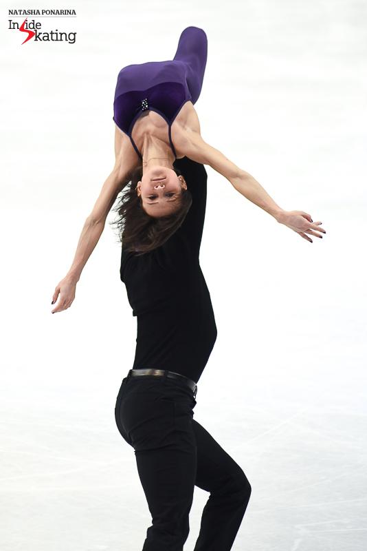45 Liubov Ilyushechkina and Dylan Moscovitch pairs practice 2017 Worlds Helsinki