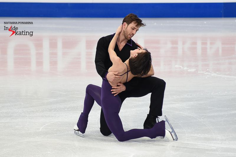 46 Liubov Ilyushechkina and Dylan Moscovitch pairs practice 2017 Worlds Helsinki