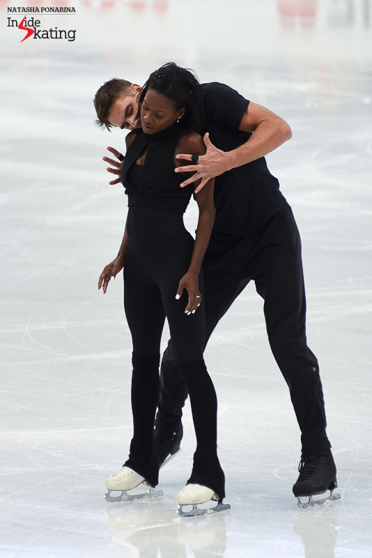 5 Vanessa James and Morgan Cipres pairs practice 2017 Worlds Helsinki