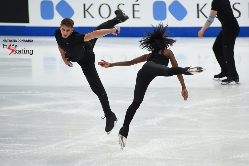 6 Vanessa James and Morgan Cipres pairs practice 2017 Worlds Helsinki