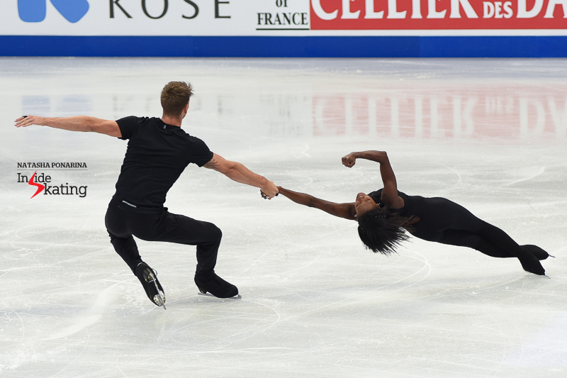 7 Vanessa James and Morgan Cipres pairs practice 2017 Worlds Helsinki