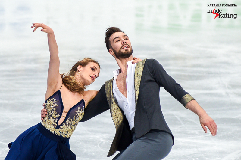 5 Gabriella Papadakis and Guillaume Cizeron practice SD 2017 Worlds Helsinki