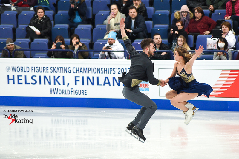 6 Gabriella Papadakis and Guillaume Cizeron practice SD 2017 Worlds Helsinki