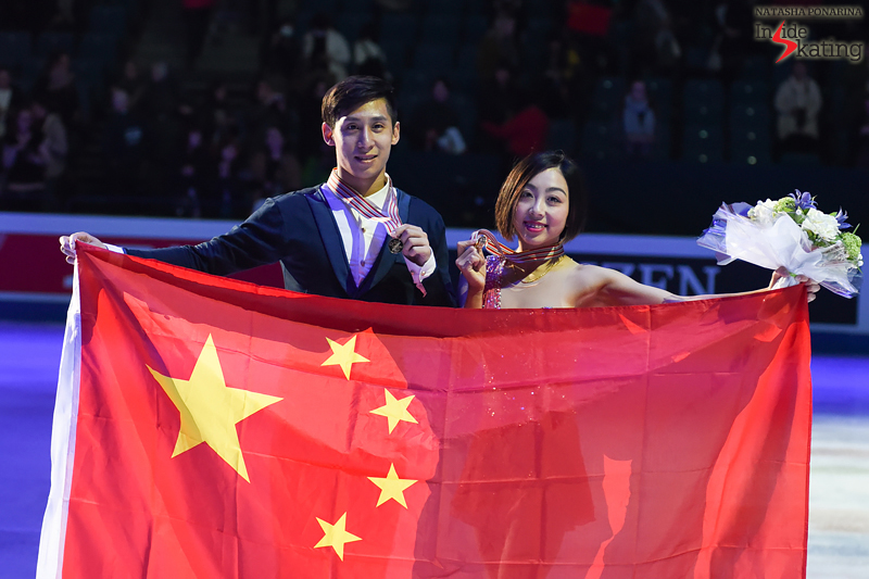 1 Wenjing Sui and Cong Han gold medalists 2017 Worlds Helsinki