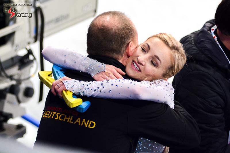 Aliona Savchenko after FS 2017 Worlds Helsinki