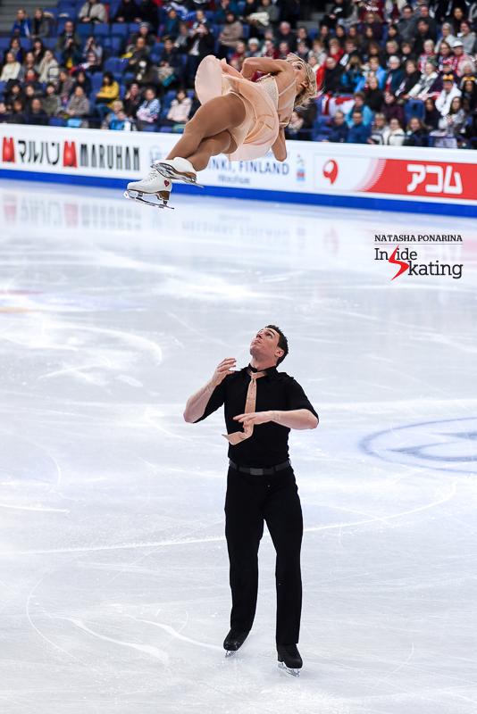 Aliona Savchenko and Bruno Massot SP 2017 Worlds Helsinki (1)