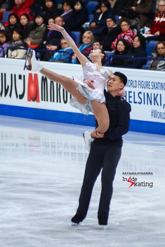 Xiaoyu Yu and Hao Zhang FS 2017 Worlds Helsinki (2)