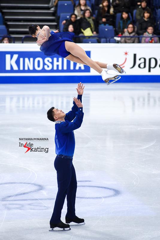 Xiaoyu Yu and Hao Zhang SP 2017 Worlds Helsinki (2)