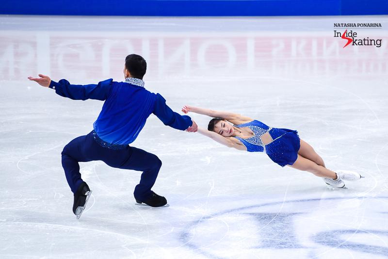Xiaoyu Yu and Hao Zhang SP 2017 Worlds Helsinki (4)
