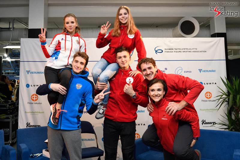 Challenger (6) - Finlandia Trophy. Oct 11 - 13, 2019. Espoo /FIN      - Страница 15 Medalists-of-the-pairs-event-2019-Finlandia-Trophy-1