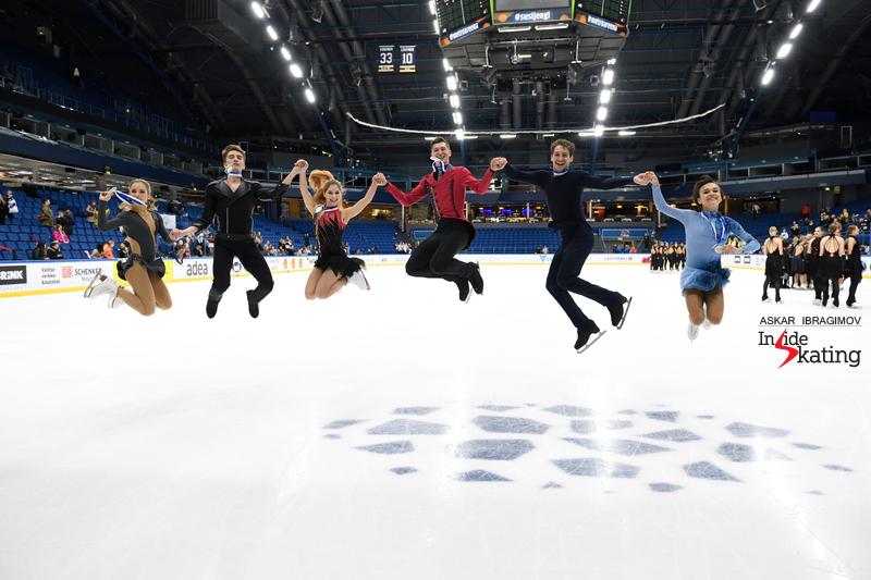 Challenger (6) - Finlandia Trophy. Oct 11 - 13, 2019. Espoo /FIN      - Страница 15 Medalists-of-the-pairs-event-2019-Finlandia-Trophy