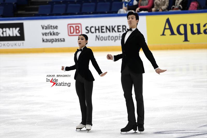 Challenger (6) - Finlandia Trophy. Oct 11 - 13, 2019. Espoo /FIN      - Страница 15 Shiyue-Wang-and-Xinyu-Liu-RD-2019-Finlandia-Trophy-1