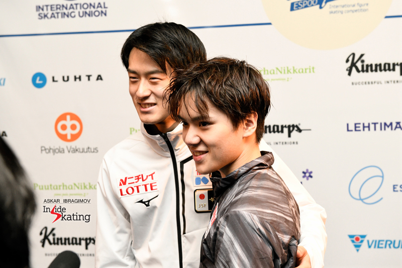 Challenger (6) - Finlandia Trophy. Oct 11 - 13, 2019. Espoo /FIN      - Страница 15 Shoma-Uno-and-Sota-Yamamoto-gold-and-silver-2019-Finlandia-Trophy