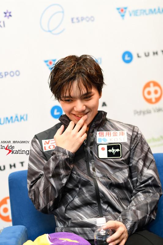 Challenger (6) - Finlandia Trophy. Oct 11 - 13, 2019. Espoo /FIN      - Страница 15 Shoma-Uno-press-conference-after-FS-2019-Finlandia-Trophy-1