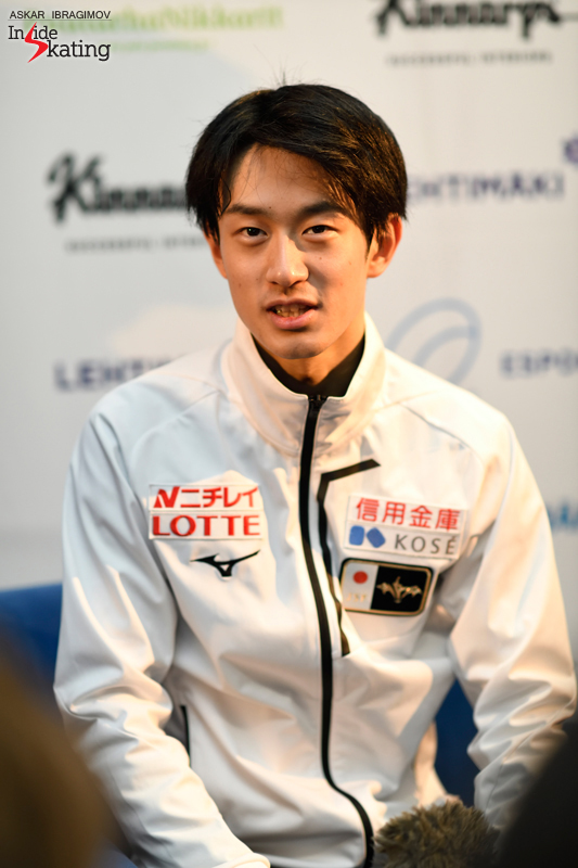 Challenger (6) - Finlandia Trophy. Oct 11 - 13, 2019. Espoo /FIN      - Страница 15 Sota-Yamamoto-press-conference-after-FS-2019-Finlandia-Trophy